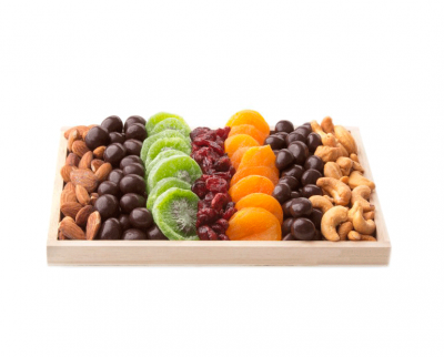 Dried Fruit, Chocolate & Nuts Wooden